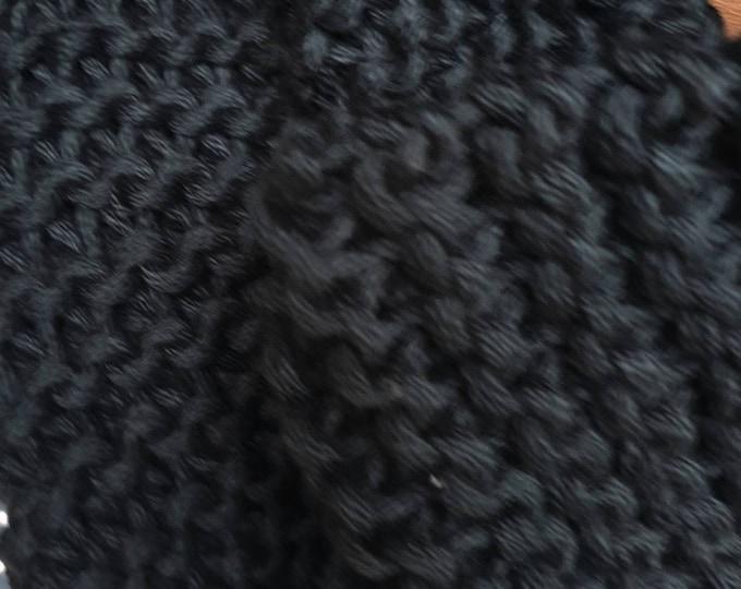 Black  100% cotton snood