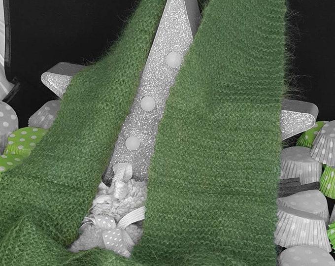 Super soft luxury long scarf - Bottle green