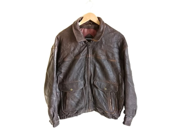 Vintage Time & Tide Leather Flight Jacket - image 1