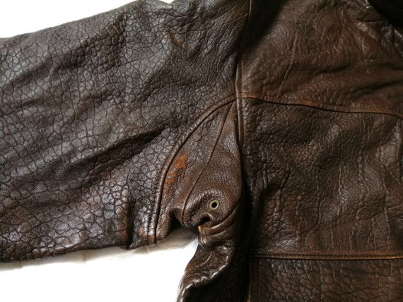 Vintage Time & Tide Leather Flight Jacket - image 9