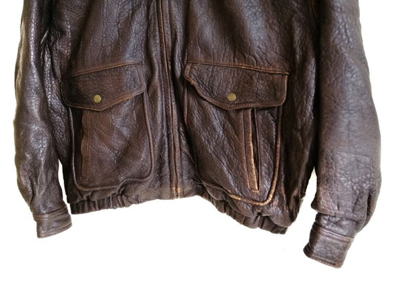 Vintage Time & Tide Leather Flight Jacket - image 6