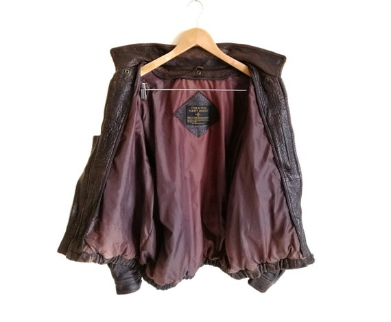 Vintage Time & Tide Leather Flight Jacket - image 3