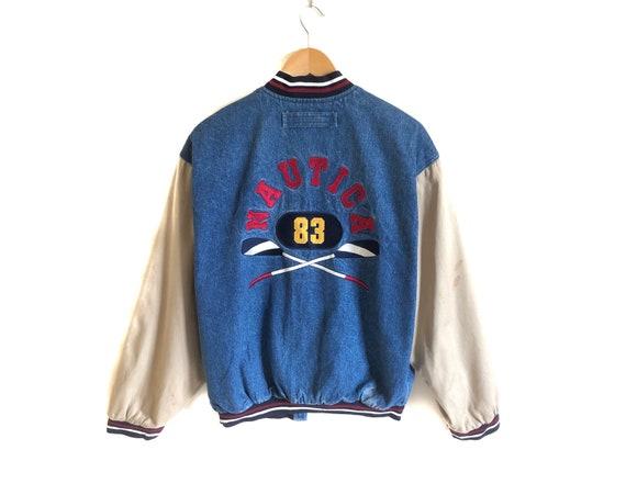 Vintage NAUTICA 83 Big Logo Denim Jacket