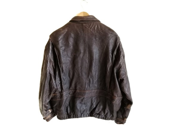 Vintage Time & Tide Leather Flight Jacket - image 2