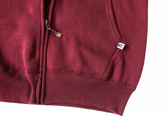 Vintage Russell Athletic Plain Hoodie Sweatshirt - image 7