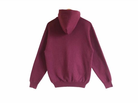 Vintage Russell Athletic Plain Hoodie Sweatshirt - image 2