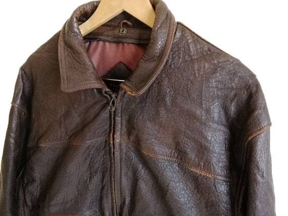 Vintage Time & Tide Leather Flight Jacket - image 5