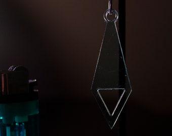 Diamond w Triangle Acryllic Earring