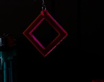 Holed Square Acryllic Earring