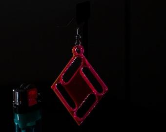 Geometric Diamond Acryllic Earring