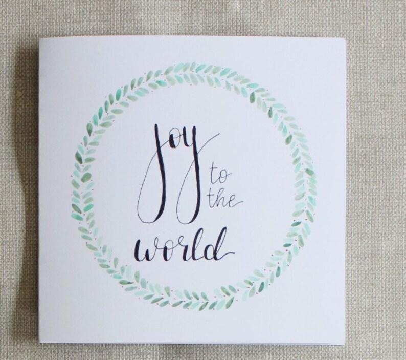 Set of 6 Handmade Christmas Cards
