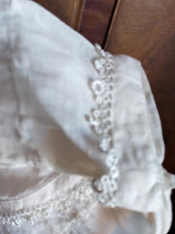 Antique Edwardian Lace Trimmed Women's Blouse - image 8