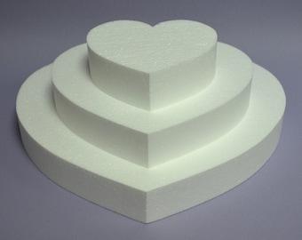 """SQUARE FOAM 6/"""" 1-1//2/"""" High Styrofoam Polystyrene Cake Dummy"""