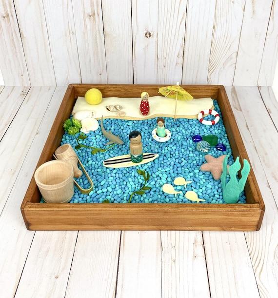 Ocean sensory bin kit/ beach small world play tray activity