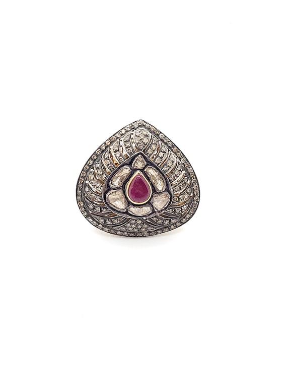 14kt Victorian Style Diamond Ring