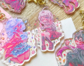 "Danganronpa acrylic charms! - 3"" double sided keychains"