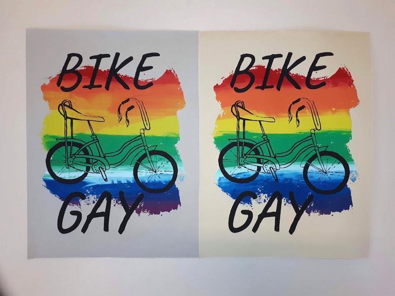 Bike Gay Pride Poster image 0