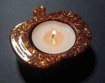 Pumpkin Candle Holder - Pumpkin Tea Light - Tea Light Holder - Resin Home Decor - Fall Tea Light Holder - Autumn Decor - Thanksgiving Decor