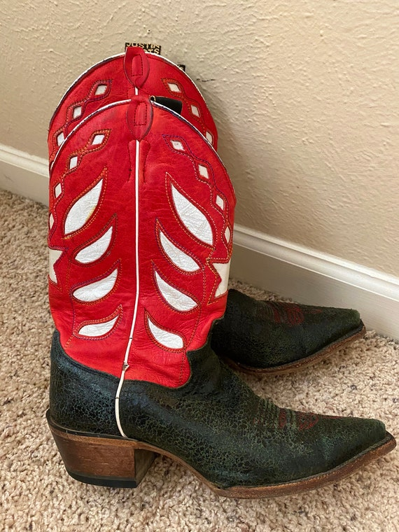 Women's Vintage Red Cowboy Boots