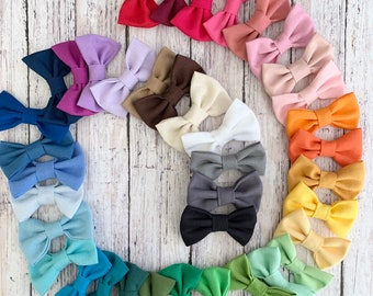 Solid Colors - Pet Bow Ties - Slides on Collar