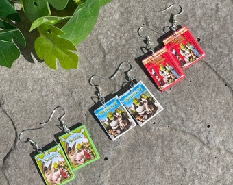 Shrek Earrings 1,2,3,4