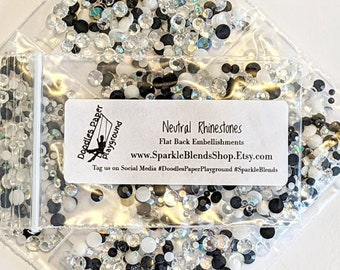 Neutral Rhinestones - Doodles Paper Playground: Embellishment Collection