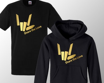Share The Love ~ Sharer Kids Childrens Girls and Boys Hoodie