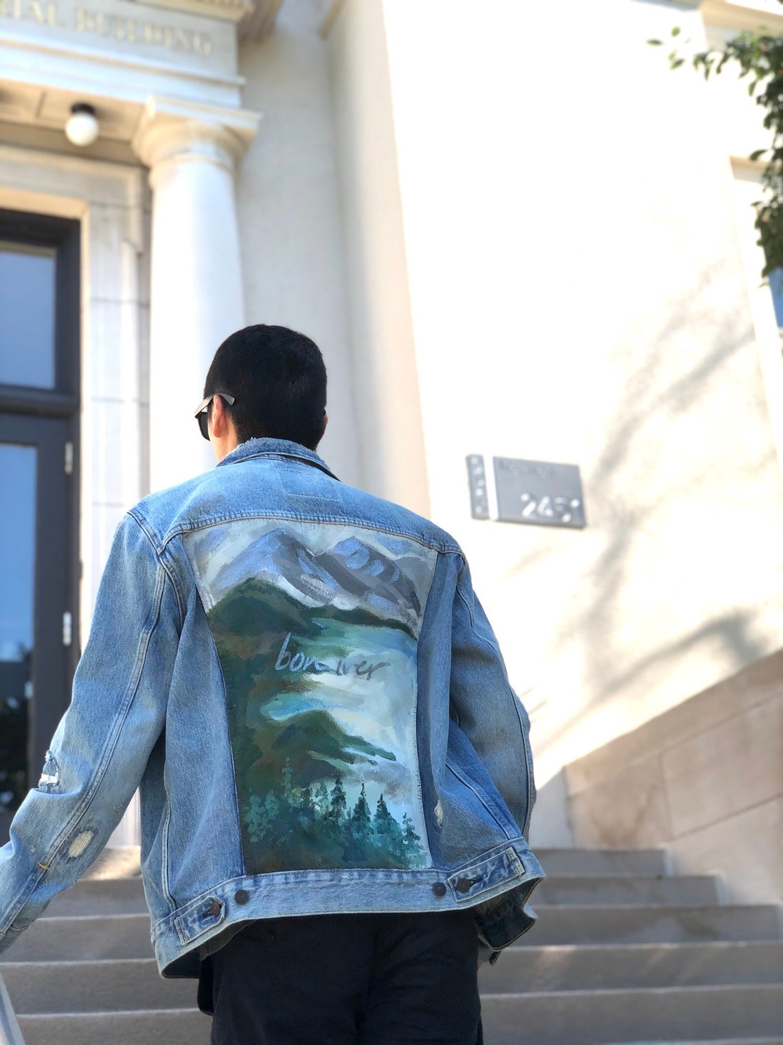 Custom| Bon Iver Hand-painted Denim Jacket. Made To Order. 3-5 Working Days.