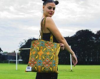 ORANGE SUNSHINE - Tote Bag / Reusable Grocery Bag / Weekend tote bag / Beach bag /