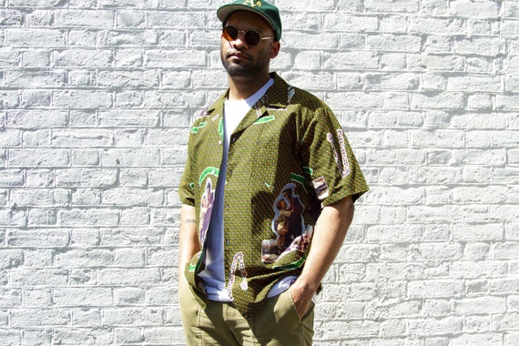 SANT'ANTONIO - Bowling Shirt / Oversize Bowling Shirt / Short Sleeve Shirt / Unisex Bowling Shirt