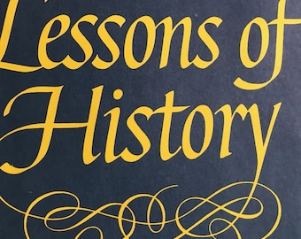 A Modern Classic/History book/The Lessons of History by Will and Ariel Durant/Hardcover/First edition