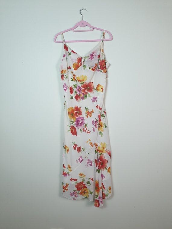 1990s Floral Dress