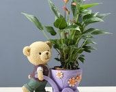 Bear Planter, Bear Plant Pot, Cute Bear Gifts, Ceramic Planter, Animal Planter, Succulent Planter No Plant