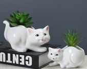 Lovely Kitty Plant Pot, Cute Cat Planter, Kawaii Ceramic Planter, Animal Planter, Succulent Planter, Spring Planter, Home Decor