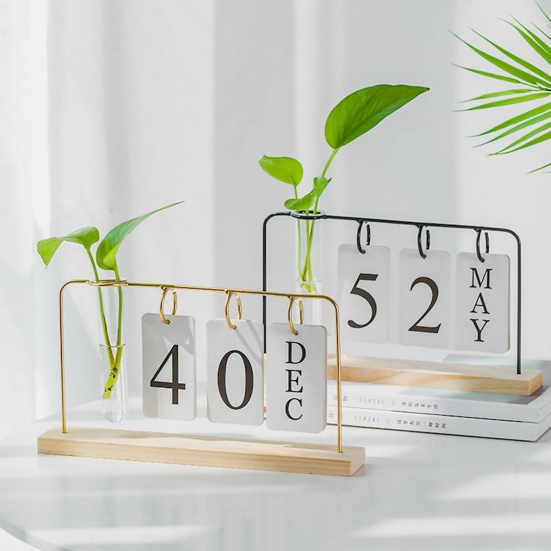 Calendario Desktop Plantatore Succulente Pot Dorato Planters image 0