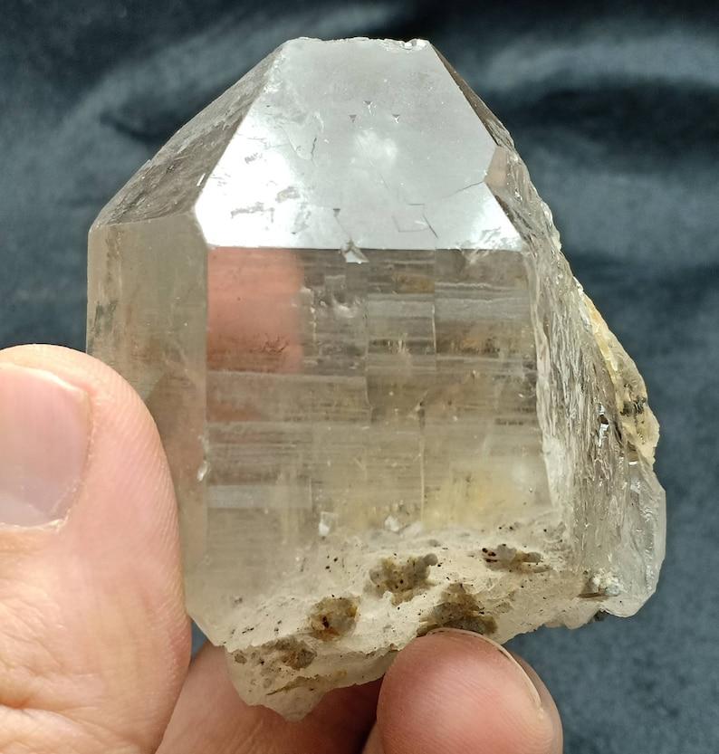 An amazing beautifully terminated smoky Quartz Crystal 195 grams