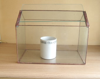 Large Closed Glass Terrarium, made from recycled glass