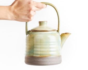 Teapot Set with 2 mugs Hazel Brown Glaze, Handmade Ceramic Gift, Pottery made Tea Service
