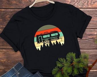 RV Life Tee | Beautiful Camper Tee | Camping Gift | Glamper Short-Sleeve Unisex T-Shirt