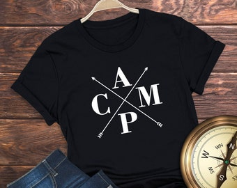 CAMP | Camping Tee | Glamping Funny Outdoors Gift Short-Sleeve Unisex T-Shirt