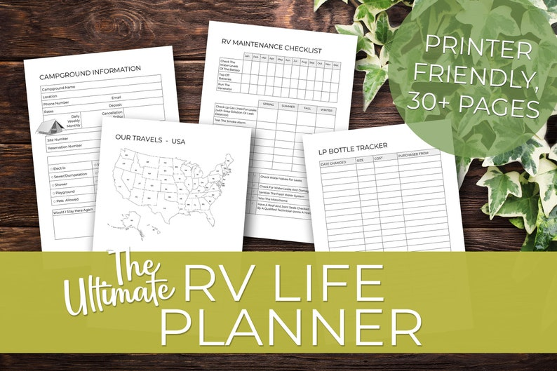 34 Pages  The Ultimate RV Life Planner  Printable Instant image 1