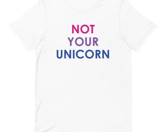 Not Your Unicorn Bi Pride T-shirt / Funny Bisexual Pride Flag Shirt / LGBTQ Pride Shirt