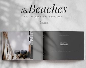 Luxury Real Estate Brochure, Real Estate Property Brochure, Feature Sheet, Real Estate Flyer, Luxury Real Estate, Real Estate Canva Template