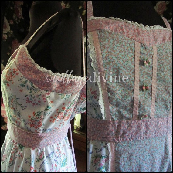 Patchwork Pink Calico Vintage Gunne Style 1970s P… - image 5