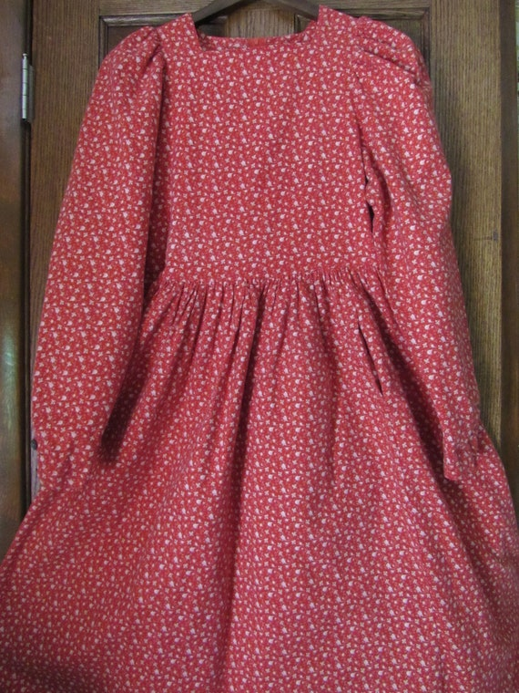 Mini Roses Coral Red Vintage Laura Ashley Carno Wa
