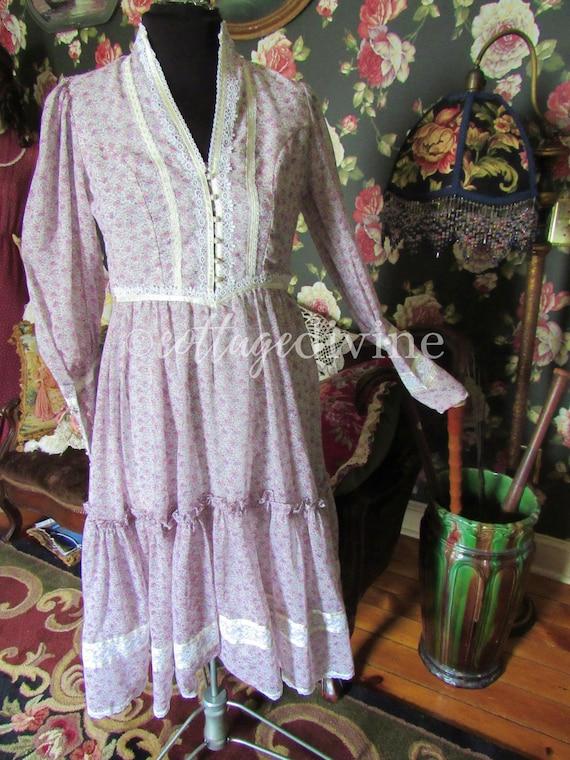 GUNNE SAX Summer Wildflowers Victorian Vintage 19… - image 3
