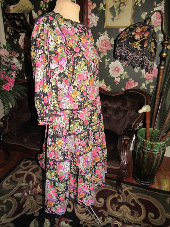 Slouchy Vintage Hippie Starina Oversized Tiered D… - image 4