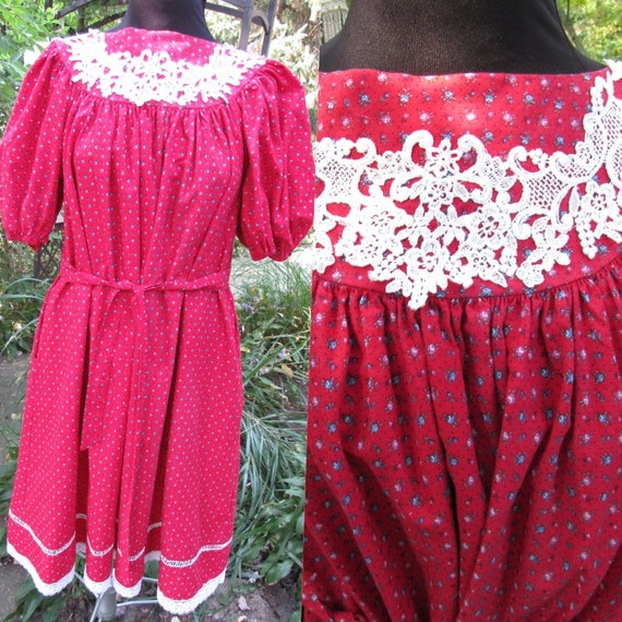 Fiesty Fairy Vintage Gunne Sax Tent or Tie Dress R