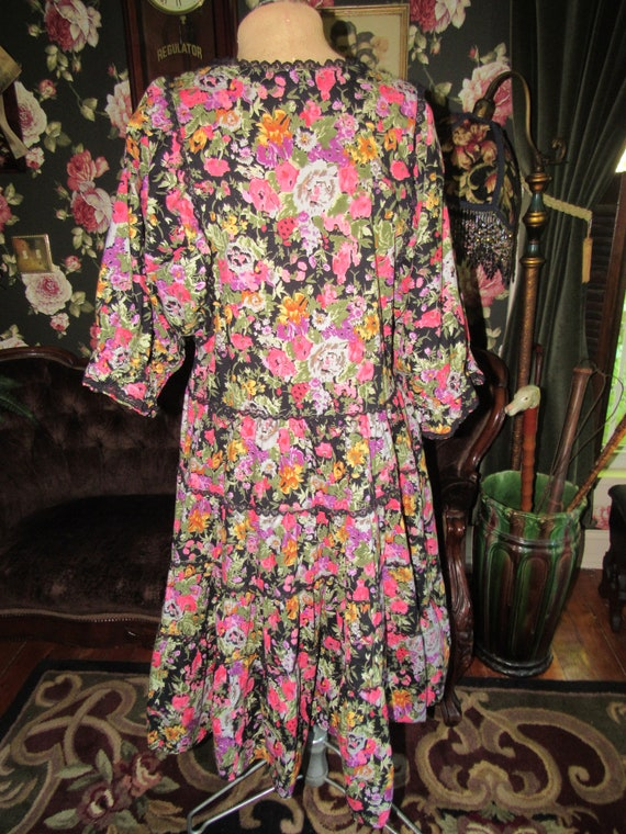 Slouchy Vintage Hippie Starina Oversized Tiered D… - image 9