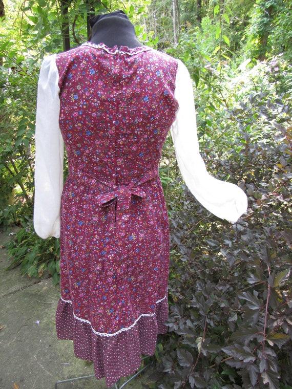 Autumn Fairy Gunne Sax Style Vintage 1970s Calico… - image 9
